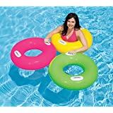 HEER Intex for Ages 8+ Years Inflatable Pool Swim Tube with 2 Handles 30-inch (Multicolour, Heer_Ent_40)