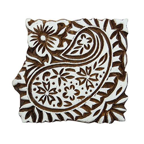 Dekorative Brown Printing-Block Indische Hand geschnitzte Stempel aus Holz Textile Stamp