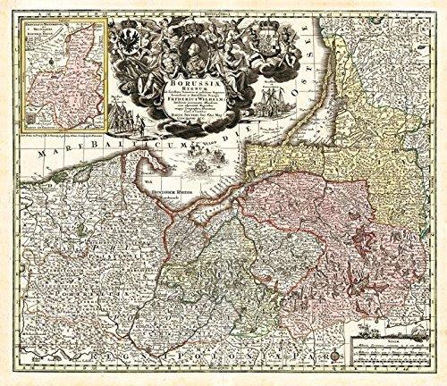 Historische Karte: Ostpreussen 1740 (Plano)