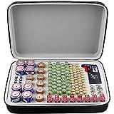 Batterie Aufbewahrungsbox mit Batterietester (BT168), Tasche für 140 Batterien AA AAA AAAA 9 V C D Lithium 3 V (ohne Batterien)