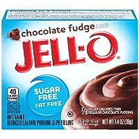 JELL-O Sugar Free Chocolate Fudge Instant Pudding & Pie Filling, 39g
