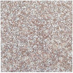 Tischplatte, Arbeitsplatte Küchenplatte 40cm x 40cm x 2 cm, aus poliertem Granit, Unikat Handarbeit, 8 KG (Beige-Sand) (Hell-Lila)