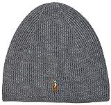Ralph Lauren – Polo berretto/berretto in lana merino: grigio, navy, verde, nero, OSFA Bnwt. Grey Taglia unica
