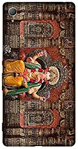 Timpax Hard Back Case Cover Printed Design : Lord Ganesha Pandal.Exactly Design For : Sony Xperia Z-3