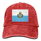 jinhua19 San Marino Flag Unisex Adult Denim Dad Baseball Hat Sports Outdoor Cowboy Cap for Men and Women