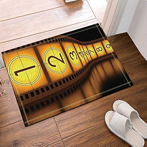 Fang2018, tappetino da bagno con pellicola digitale gialla, marrone, antiscivolo, per interni, per bambini, 40 x 60 cm, accessori da bagno