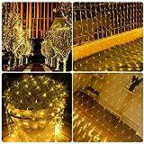Lichternetz,LED Lichternetz,LED Lichterkette, Lichtervorhang,Weihnachtsbeleuchtung,8 Modi Lichterketten für Weihnachten Geburtstag Party Hochzeit Garten Indoor Outdoor Dekorationen 3M x 2M 200Leds