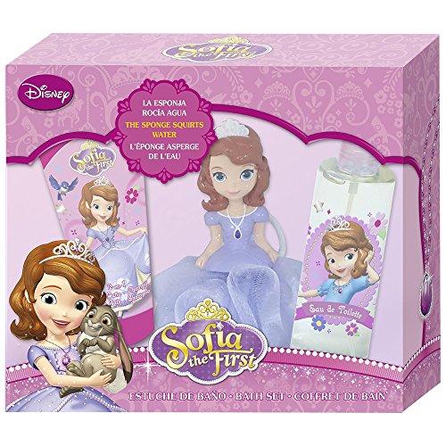 Disney Sofia The First Geschenkset, EDT, Shampoo, Schwamm, 1er Pack (1 x 3 Stück)