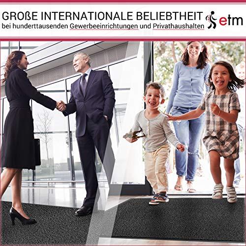 etm® Schmutzfangmatte – Note 1,6: Sieger Preis-Leistung – Fußmatte in vielen Größen – Fußabstreifer für Haustür innen und außen (Anthrazit-Schwarz, 60×90 cm) - 3