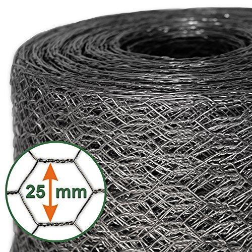*Mammut® Drahtzaun / Sechskant-Geflecht | Maschenweite 25 mm | Gartenzaun | Länge und Höhe wählbar*