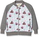 Ben & Lea Mädchen Sweatshirt Serre Jacke, Gr. 110 (Herstellergröße: 110/116), Mehrfarbig (blumen Bunt Dunkelgrau 100)