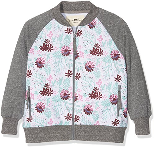 Ben & Lea Mädchen Sweatshirt Serre Jacke, Gr. 134 (Herstellergröße: 134/140), Mehrfarbig (blumen Bunt Dunkelgrau 100)