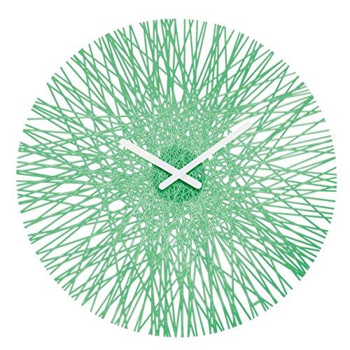 Koziol Reloj de pared, transparent mint, 3.5 x 44.8 x 44.8 cm