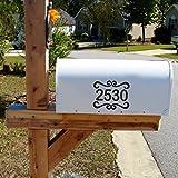 Cassetta delle lettere-vinile-scritta adesivi Custom Design start a mailbox-indirizzo etichetta -  Adesivo con fiori Mono g di peso