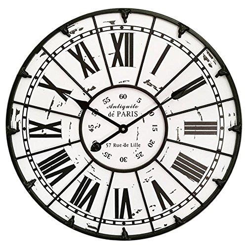 Longless horloge murale rétro nordique salon muet diamètre d'horloge européenne mur de fer créatif 60 cm