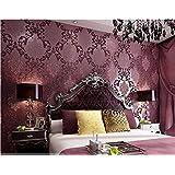 getmorebeauty 10x 0.53M lila Damast Streifen Strukturierte Tapete Rolle Schlafzimmer Dekor