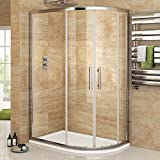 900 x 760 mm Right Hand Offset Quadrant Easy Clean Shower Enclosure   Tray Set