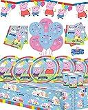 Peppa Pig-Kit per festa, festone per 8,16,24,32 & Free candele con ogni acquisto