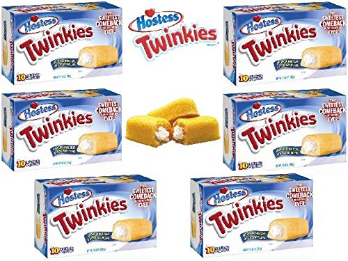 Twinkies 6 Pack - 6 Full Boxes - 60 Cakes -