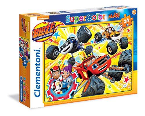 Clementoni 24476 - Puzzle Maxi Blaze And The Monster Machines, 24 Pezzi