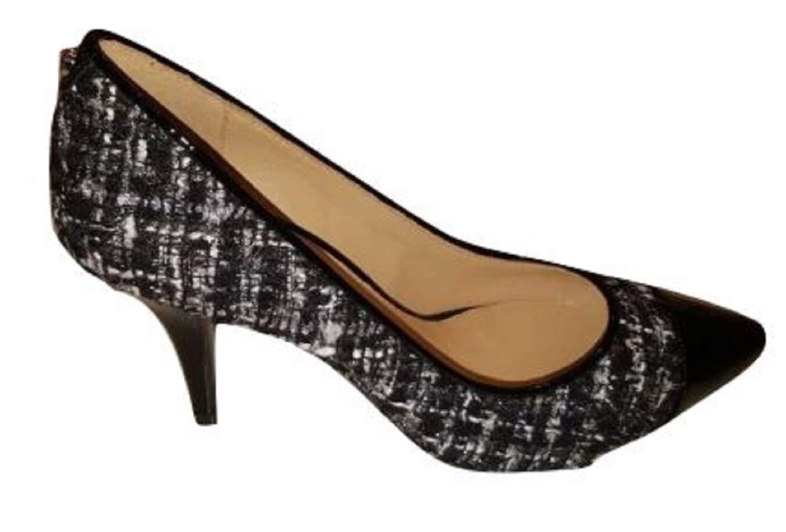 F6702 Decollete Donna Black/White/Silver MICHAEL KORS Patent/Tissue Shoe Woman