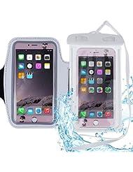 Faburo 2 funda de móvil impermeable,una para rafting, kayak, natación etc, otra es brazalete deportivo para correr. Se adaptan los móviles como iPhone, Samsung, LG, HTC, Sony, Huawei, Elephone y etc. (5.5 Pulgadas)