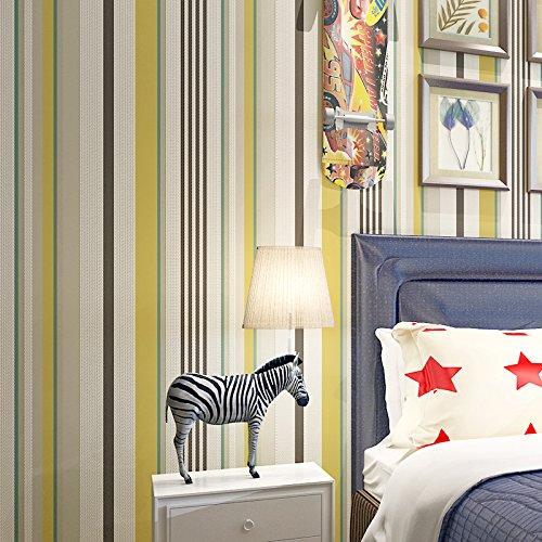 BBSLT Moderna la striscia colorata di stoffe non tessute sfondi di schiumatura camera da letto soggiorno sala da pranzo decorazione semplice sfondo , 1 - Colorata Tessuto Blu