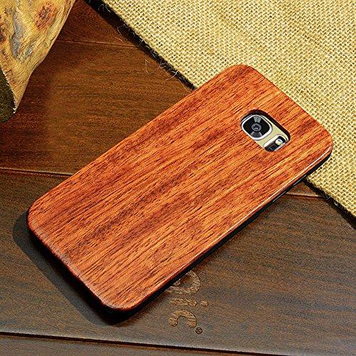 Skitic Wood Hard Coque Case pour Samsung Galaxy S8, Bois Véritable + PC Bumper Dur Hard Housse Etui en Bois Naturel Sculpté Design Cover de Protection pour Samsung Galaxy S8 - Constantine Bois