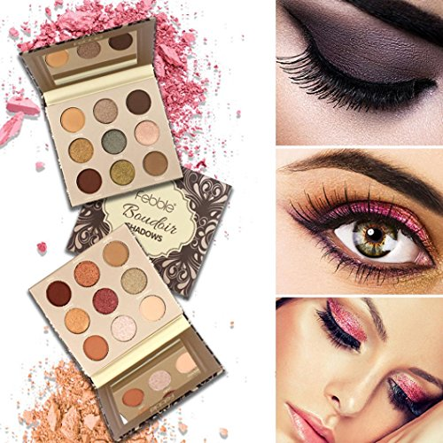 32color Portable Wallet Type Eyeshadow Tray Leather Eye Shadow Pearl Eye Shadow Combination Eye Shadow Tray Dress Up Your Beauty Beauty & Health