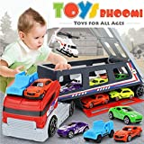 Toys Bhoomi Race Along With Huge Long Haul Transport Truck With 8 Vehicles Included And Holds Upto 22 Vehicles