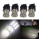 SMKJ 4x Weiß 3157 2835 33 SMD 12V LED Ersatz Lampe Licht für Auto Beleuchtung Lampe Licht Standlicht Birne Rücklicht Rückfahrlicht Heckleuchte
