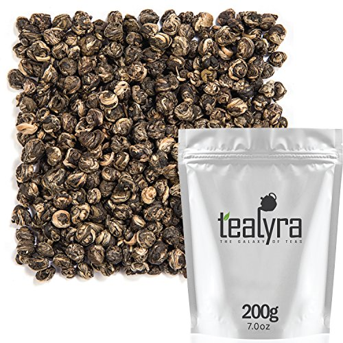 Tealyra - Imperial Jasmine Dragon Pearls - Jasmintee - Drachenperlen - Grüner Tee - Loose Leaf Green Tea - Organically Produced - Pleasant Aroma and Tonic Effect - 200g (Imperial Dragon)