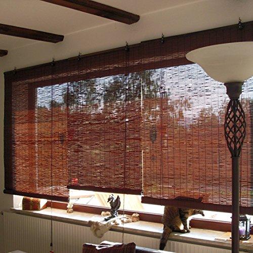 victoria m bambusrollos fenster sichtschutz rollos aus bambus aus. Black Bedroom Furniture Sets. Home Design Ideas