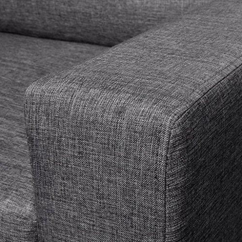 Sofa 2-Sitzer Dunkelgrau - 5