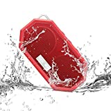 Myguru New Bee Wireless Waterproof Shockproof Mini Portable Stereo Bluetooth Speakers with CRS 4.0 for Camping / Hiking / Travel / Outdoor / Shower Compatible with all Audio Devices (Red)