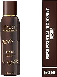 Fresh Essential No Gas Perfume Body Spray - Desire, 150 ml/122g