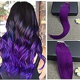 Generic Full Shine Purple Tape In Hair E...