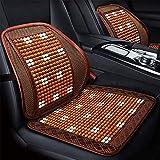 Bbaixx Coperture di sede di automobile di perline di legno di posto unico universale, massaggio impermeabile respirabile multifunzionale, airbag compatibile, protezioni di rilievo di posto,C