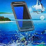 Samsung Galaxy S7 Edge Wasserdichte Hülle HandyHülle Casefirst Tasche Stoßfeste Schmutzfeste Schutzhülle IP68 TPU + PC Hülle Backcover 360° Ganzkörper-Schutz Outdoor Staubdicht Stoßfest Schneedicht Schutzhülle Outdoor Schutzhülle - (Schwarz)