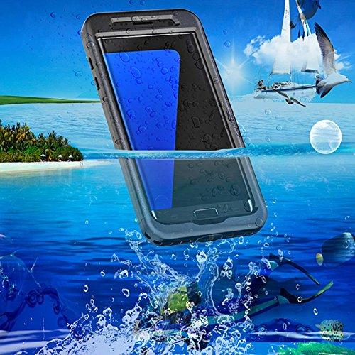 zukabmw Samsung Galaxy S7 Edge wasserdicht Hülle, Dauerhaft Backcover IP68 Certified Water-Proof Hülle Backcover -Taking Swimming zum Samsung Galaxy S7 Edge