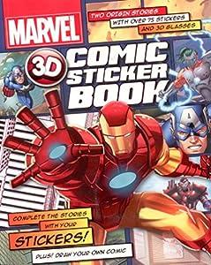 Marvel Heroes: 3D Comic Sticker Book (Iron Man, Captain America)