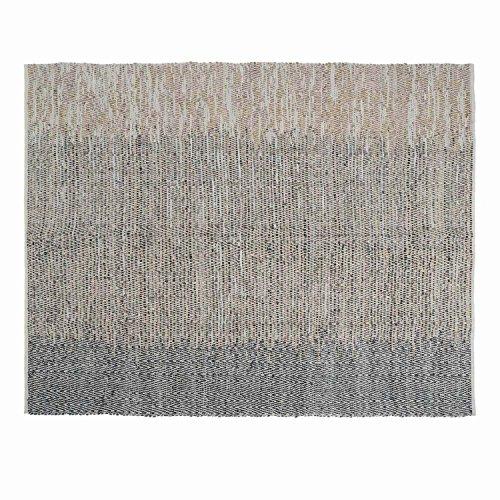 Black Velvet Studio - AlfombraCairo80%Piely20%algodón,ColorBeigeyNegro.MaterialesTejidos,espigas,degradédeColor250x200x1cm.