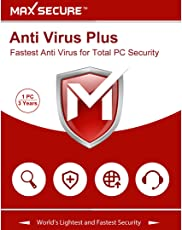 Max Secure Software Antivirus Platinum Version 6 - 1 PCs, 3 Years (Email Delivery in 2 Hours - No CD) (Activation Key Card)