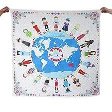 Weeagoamigo Printed Muslin Swaddling Blanket - World Peace