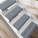 """Floordirekt 15 Stück Preiswerte Stufenmatten """"London"""" halbrund und rechteckig in 11 Farben (eckig, groß, hellgrau)"""