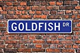 Metall Schild Post Goldfish Geschenk Schild Decor Goldfish Lover Aquarium Karneval Preis Plakette Wandaufkleber Home Dekoration Street Schild