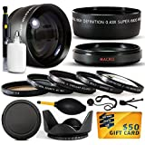 10 Piece Ultimate Lens Package For The Fuji Finepix S7000 Digital Camera Includes .43x High Definition II Wide Angle Panoramic Macro Fisheye Lens + 2.2x Extreme High Definition AF Telephoto Lens + Professional 5 Piece Filter Kit (UV, CPL, FL, ND4 And 10x