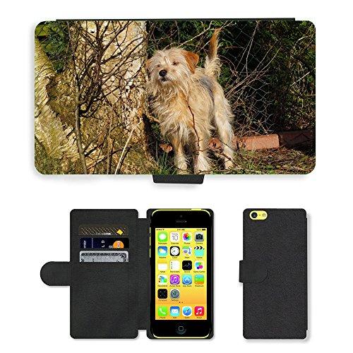 Just Mobile pour Hot Style Téléphone portable étui portefeuille en cuir PU avec fente pour carte//m00139726pour chien femelle//Apple iPhone 5C