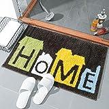 TWGDH Doormat Willkommen Eingang Bodenbelag Saugfähige Anti-Rutsch-Teppiche Für Ihr Badezimmer, Dusche, Innen-und Außenbereich vor Bodenmatten Teppich,#1,50 * 80Cm