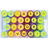 Oytra 26 Alphabet Self Ink Stamps Seals ABCD Letters Seals Plastic Body for Kids Girls Boys